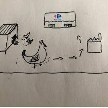 20CENT Style A blockchain is also for chickens