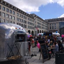 Sunny atmosphere at the Brussels Foodtruck Festival