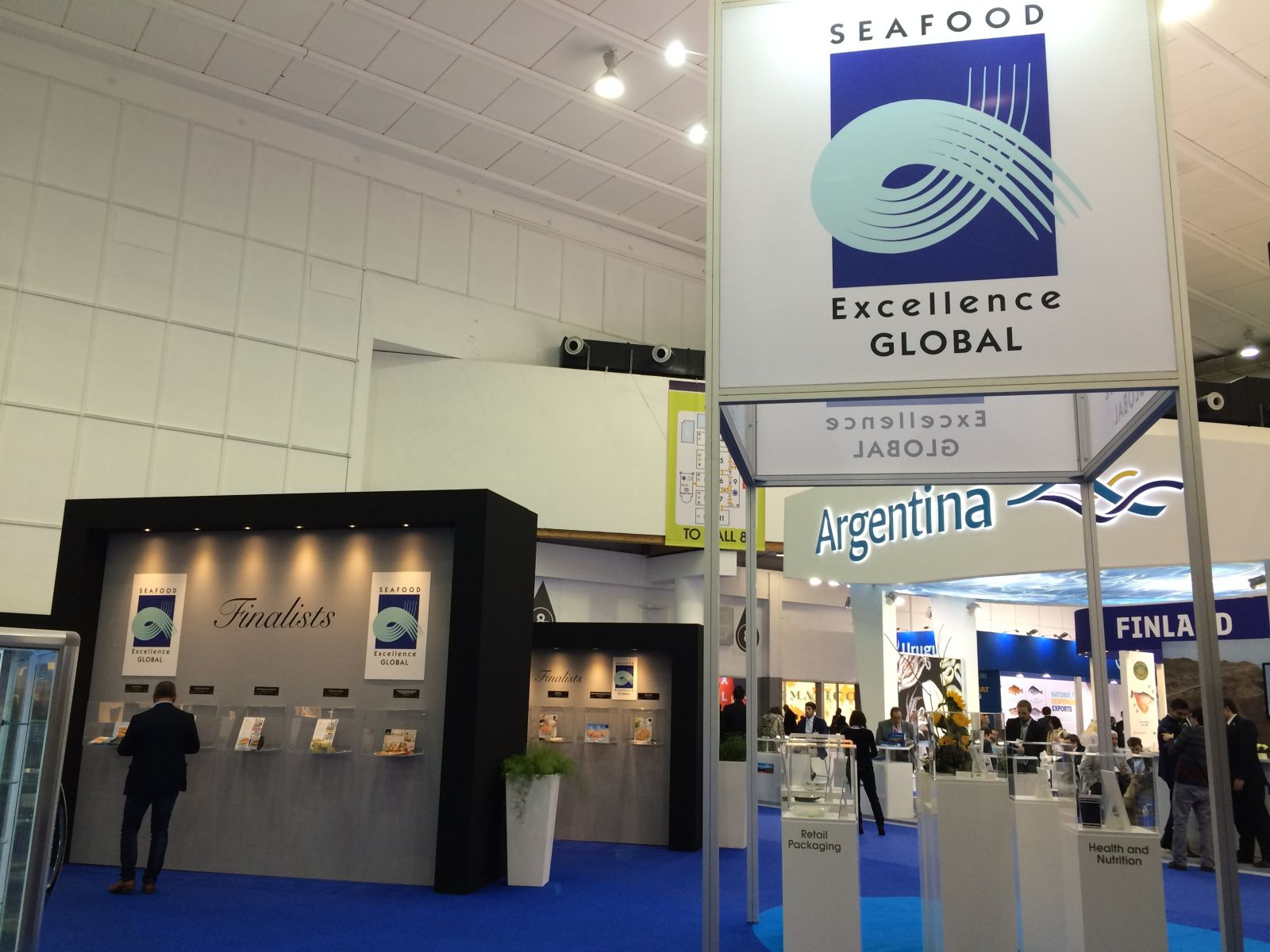 The Seafood Excellence Global 2016 Exhibit in the Patio